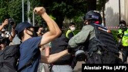 Гонконгдо улуттук коопсуздук тууралуу мыйзам күчүнө кирген күнү калайман нааразылык акциялары өттү.