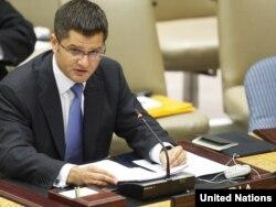 Vuk Jeremić na sednici Saveta bezbednosti UN, avgust 2011.