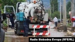 Selo Sinđelić, kod Skoplja, nakon poplava uzrokovanih nevremenom, 7. avgust 2016.