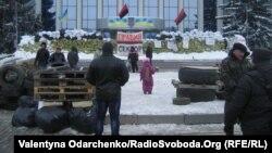 Барикади біля Рівненської ОДА, 25 січня 2014 року