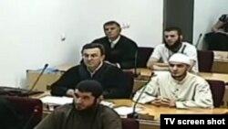 Pamje nga gjykimi i Mevlid Jashareviqit dhe dy bashkëpunëtorëve të tij.
