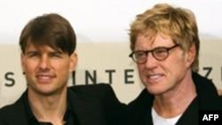 رابرت ردفورد و تام کروز، بازیگران اصلی فیلم «شیرها برای بره ها»