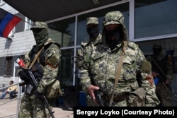 Бойовики угруповання «ДНР» на Донбасі. Кінець квітня 2014 року