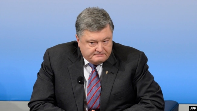 Ukrainian President Petro Poroshenko in Munich on February 17