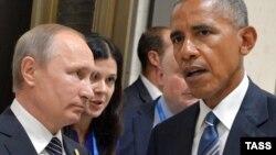 Ռուսաստանի նախագահ Վլադիմիր Պուտինն ու ԱՄՆ նախագահ Բարաք Օբաման, արխիվ