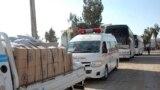 مساعدات إنسانية في طريقها إلى المحاصرين في حمص القديمة - 9 شباط 2014
