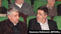 Dragan Simić (lijevo) i Almir Reko Makedonac na premijeri filma u Sarajevu, 24. decembar 2015.