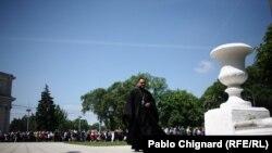 An Anti Muslim march in Chisinau on May 18