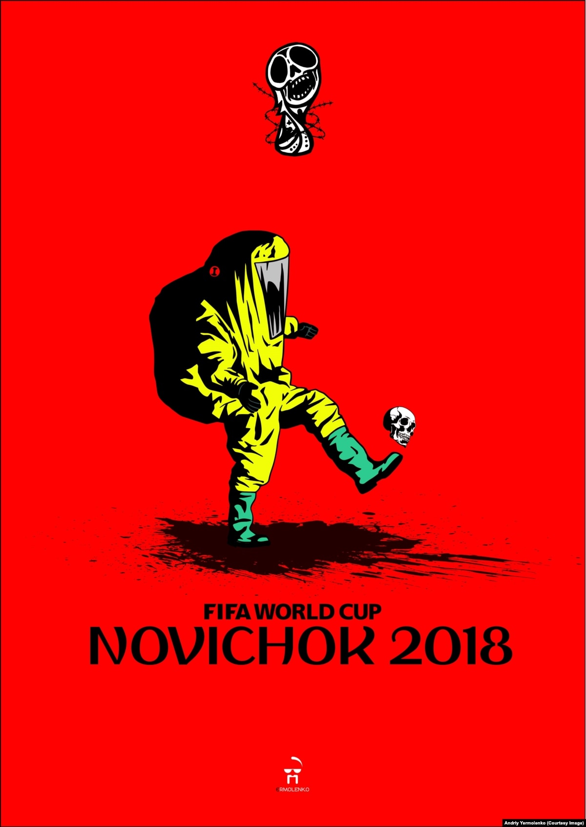35ad52cc6 Ukrainian Artist s Viral Posters  Red Card  World Cup Host Russia