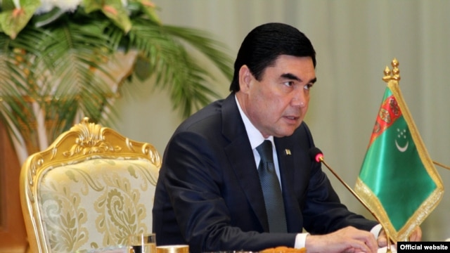 Turkmen President Gurbanguly Berdymukhammedov.  Turkmenistan would be one of the winners of any new Iranian trade route.