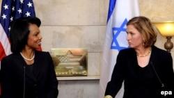 Государственный секретарь США Кондолиза Райс и министр иностранных дел Израиля Ципи Ливни. Администрации Джорджа Буша решить ближневосточную проблему не удалось