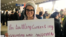 Kiana Ghanei protests at Philadelphia's airport on January 28, the day her grandmother was supposed to arrive from Iran.
