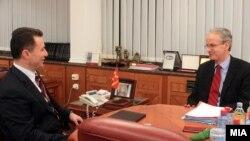 Средба на премиерот Никола Груевски со Кристијан Даниелсон, генерален директор на Директоратот за проширување во Европската комисија.