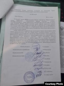 """""""Кўназар саховатли боғлари"""" боғига ер ажратиш ҳақида комиссия хулосаси"""