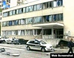 Policijska stanica u Bugojnu nakon napada, juni 2010.