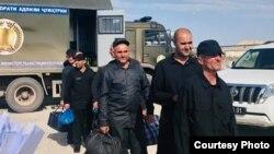 Передача Таджикистаном заключенных Афганистану. Нижний Пяндж, 30 сентября 2019 года.