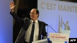 Франсуа Олланд, кандидат в президенты Франции.