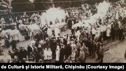Funerariile lui S.Murafa și A.Hodorogea de la Chișinău (august 1917)