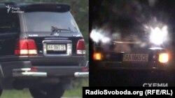 Слідом за ним – авто охорони Пінчука