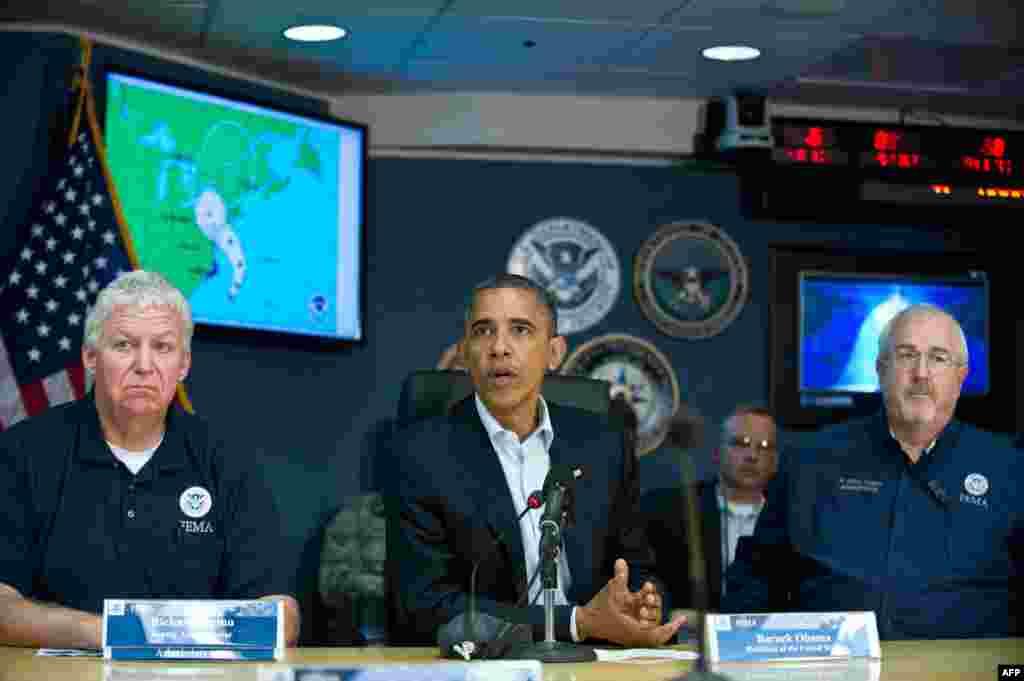 Президент Обама гадәттән-тыш хәлләр идарәсендә