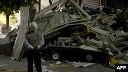 Жарылыстан Pemex компаниясының ғимараты қирап, бүлінді. Мехико қаласы, Мексика, 31 қаңтар 2013 ж.