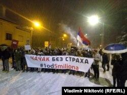 Protest u Čačku, 25. januara 2019.