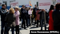 Пикет предпринимателей из-за закрытия торгового центра в Хабаровске