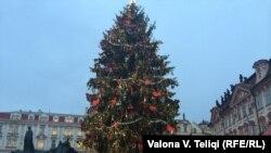 Pomul de Crăciun de la Praga, 17 decembrie 2014