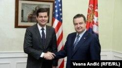 Ves Mičel i Ivica Dačić u Beogradu, 13. mart