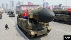 رژه ارتش کره شمالی در فروردین ماه گذشته