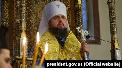 Глава Православної церкви України (ПЦУ) митрополит Київський і всієї України Епіфаній. Стамбул, 5 січня 2019 року