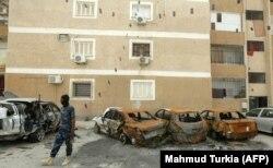 Один из пригородов Триполи, только что отбитый силами ПНС у армии Хафтара. 9 мая 2020 года