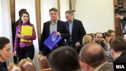Седница на Анкетната комисија за скандалот со прислушувањето.