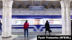 Станция метро в Ташкенте. Узбекистан, 30 ноября 2019 года.