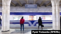 Станция метро в Ташкенте.