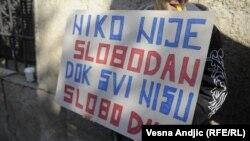 Sa jednog od LGBT protesta u Srbiji