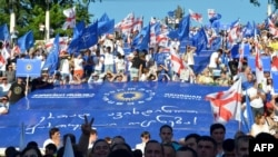 """Протест на на опозициските партии од коалицијата """"Сон""""."""