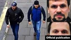 Подозреваемые в отравлении британского разведчика Юрия Скрипаля российские граждане на улицах английского Солсбери.