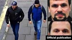 Вероятные сотрудники военной разведки России Петров и Боширов на улицах Солсбери