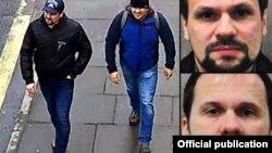Російські агенти «Петров» і «Боширов» на вулицях британського міста Солсбері, березень 2018 року
