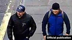 Агенты ГРУ Петров и Боширов на улицах Солсбери.