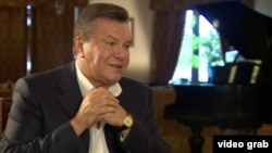 Виктор Янукович дает интервью Би-би-си