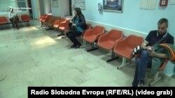 Prazna čekaonica u Domu zdravlja Vrazova, Sarajevo, fotoarhiv