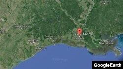Pamja e Lafajetit në Luizianë në hartë