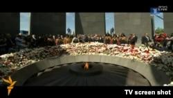 Pamje arkivi gjatë një prej ceremonive në kujtim të vrasjeve masive të armenëve nga Perandoria Osmane