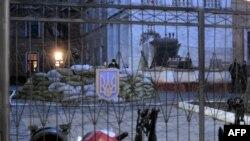 Штаб Военно-морских сил Украины. Симферополь, 18 марта 2014 года.