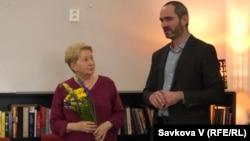 Лукаш Бабка, керівник «Слов'янської бібліотеки» та Оксана Пеленська