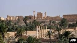 Pamje e qytetit të lashtë Palmira në Siri
