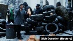 Протестувальники біля Верховної Ради України, Київ, 6 грудня 2017 року