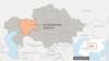 Актюбинская область на карте Казахстана.